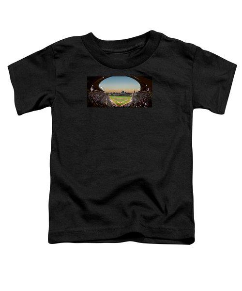 Wrigley Field Night Game Chicago Toddler T-Shirt by Steve Gadomski