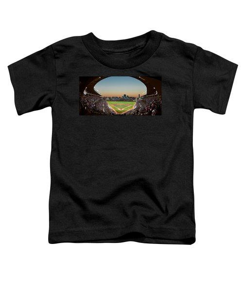 Wrigley Field Night Game Chicago Toddler T-Shirt