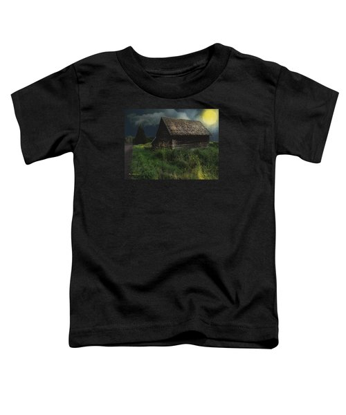 Yellow Moon On The Rise Toddler T-Shirt