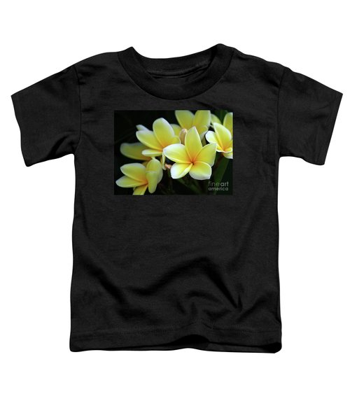 Yellow Plumeria Cascade Toddler T-Shirt