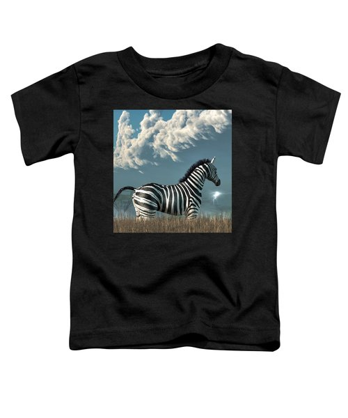 Zebra And Approaching Storm Toddler T-Shirt