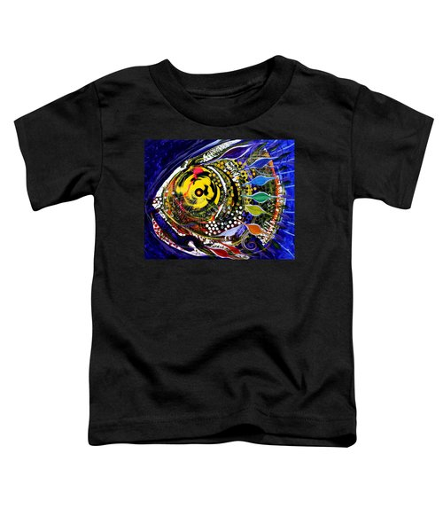 Abstract Busy Bee Fish Toddler T-Shirt