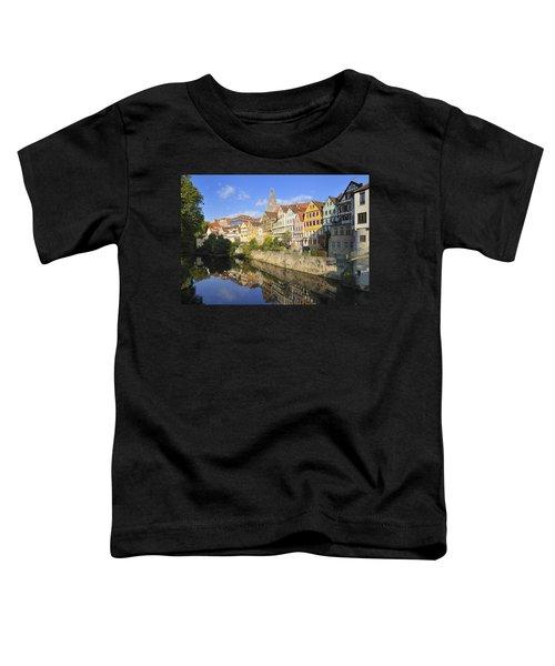 Beautiful German Town Tuebingen - Neckar Waterfront Toddler T-Shirt
