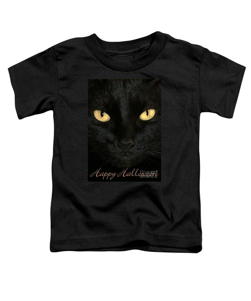 Black Cat Halloween Card Toddler T-Shirt