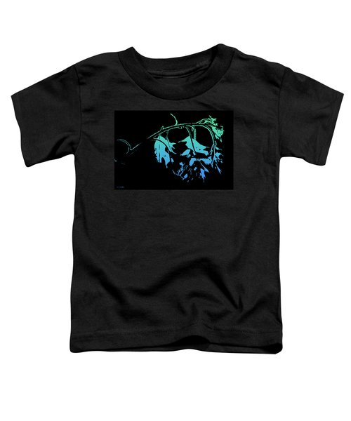 Blue On Black Toddler T-Shirt