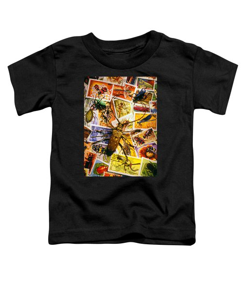 Bugs On Postage Stamps Toddler T-Shirt