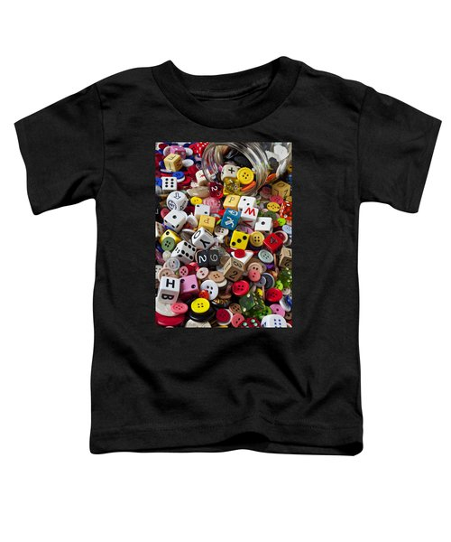 Buttons And Dice Toddler T-Shirt