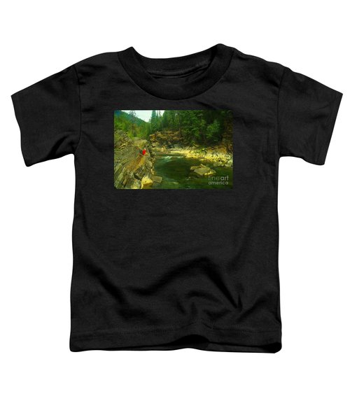 Cliff Over The Yak River Toddler T-Shirt by Jeff Swan