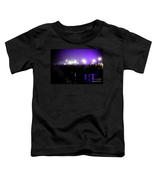 Cool Night At Santa Monica Pier Toddler T-Shirt