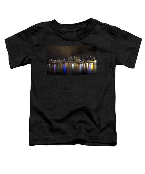 Darling Harbor Sydney Skyline Toddler T-Shirt