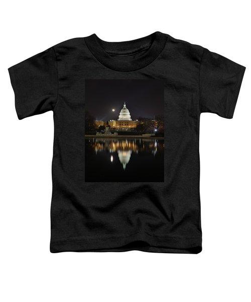 Digital Liquid - Full Moon At The Us Capitol Toddler T-Shirt