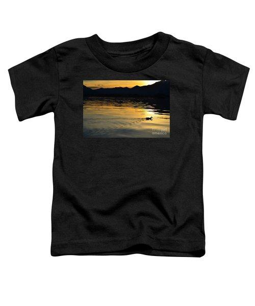 Duck Swimming Toddler T-Shirt