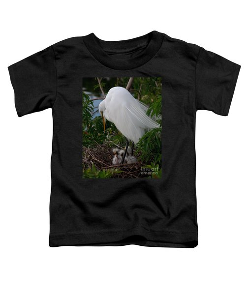 Egret With Chicks Toddler T-Shirt