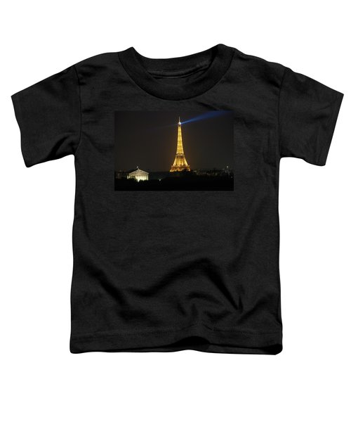 Eiffel Tower At Night Toddler T-Shirt