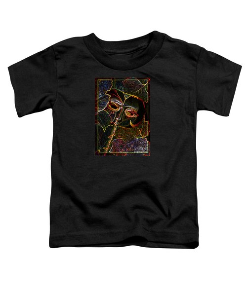 Toddler T-Shirt featuring the relief Glowing Mask With Leaves by Nareeta Martin