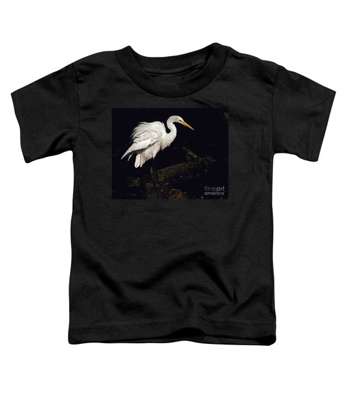 Great Egret Ruffles His Feathers Toddler T-Shirt