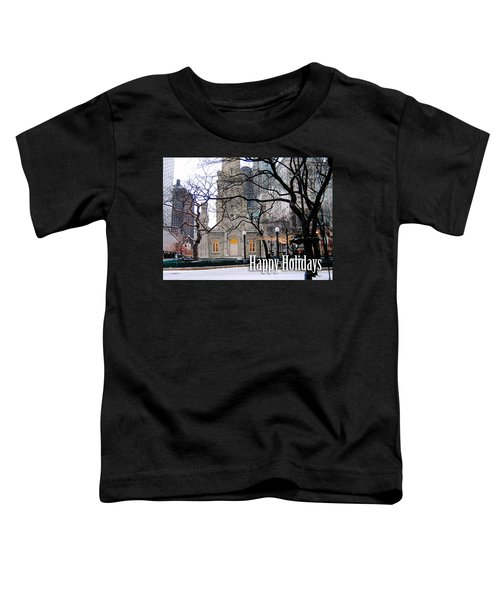 Happy Holidays From Chicago Toddler T-Shirt