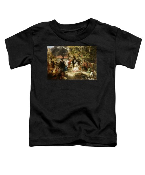 Highgate Fields During The Great Fire Of London In 1666 Toddler T-Shirt