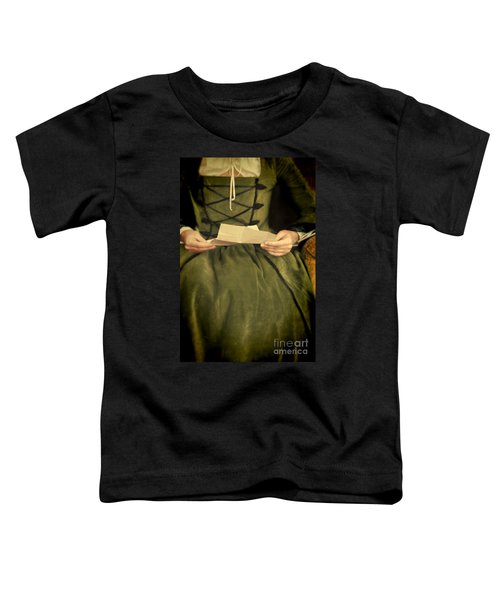 Lady In Renaissance Gown With Letter Toddler T-Shirt