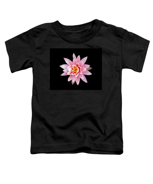 Toddler T-Shirt featuring the photograph Lily On Black by Bill Barber