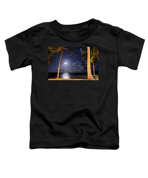 Maceio - Brazil - Ponta Verde Beach Under The Moonlit Toddler T-Shirt