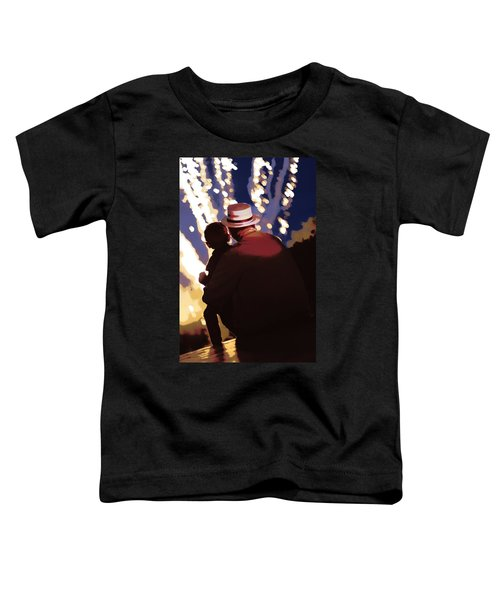 Me And Papa - 4th Of July Toddler T-Shirt