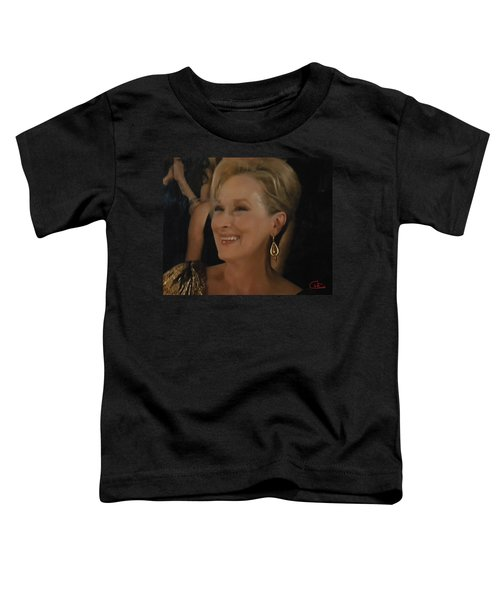 Toddler T-Shirt featuring the photograph Meryl Streep Portrait  by Colette V Hera  Guggenheim