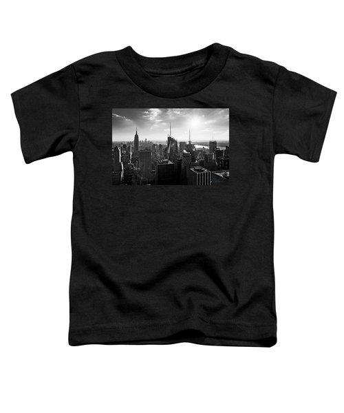 Midtown Skyline Infrared Toddler T-Shirt
