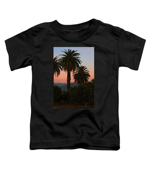Palm Trees And Orange Trees Toddler T-Shirt
