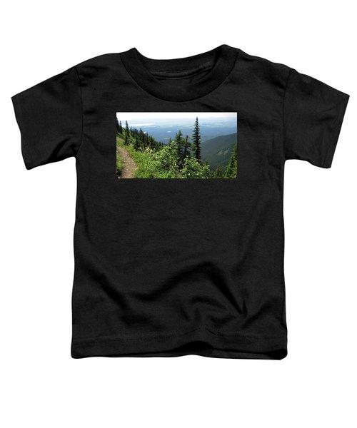 Panoramic Jewel Basin Montana Toddler T-Shirt