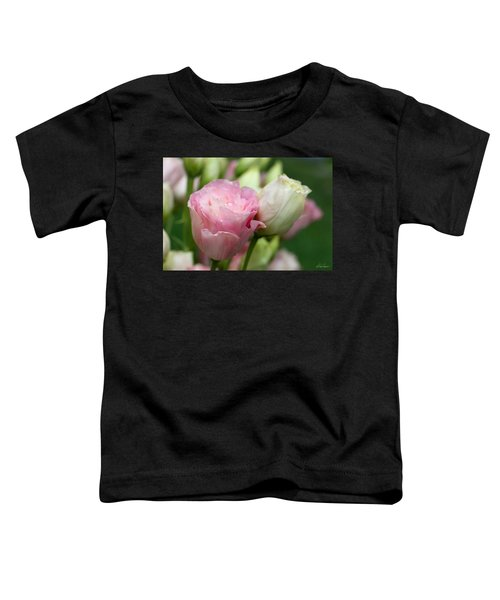 Pink And White Lisianthus Toddler T-Shirt
