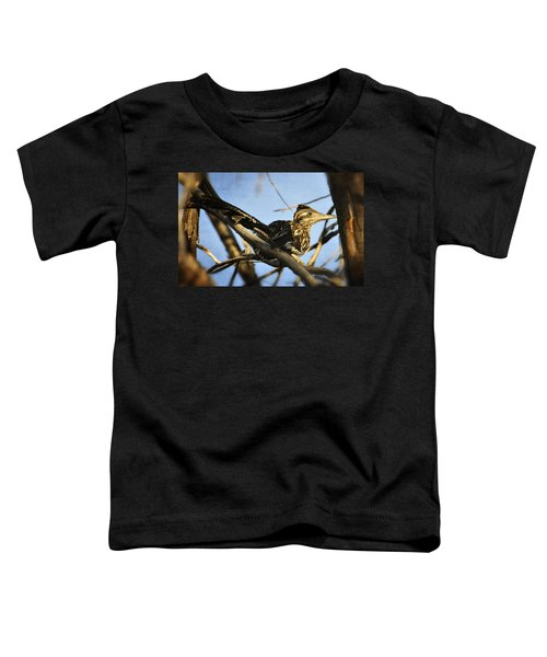 Roadrunner Up A Tree Toddler T-Shirt by Saija  Lehtonen