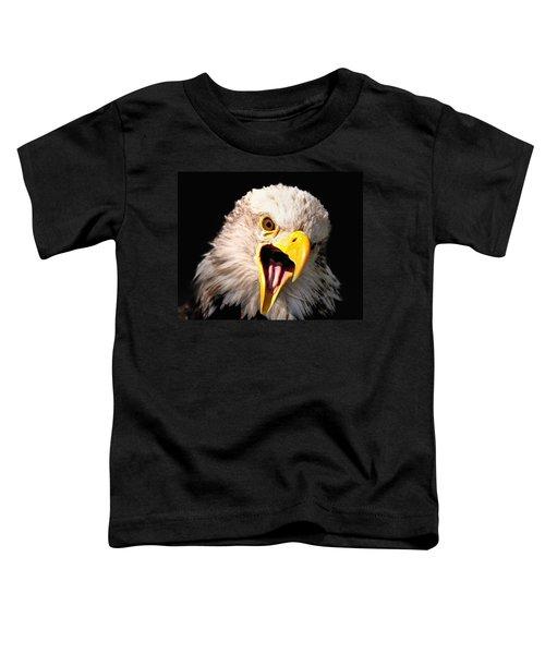 Screaming Eagle II Black Toddler T-Shirt