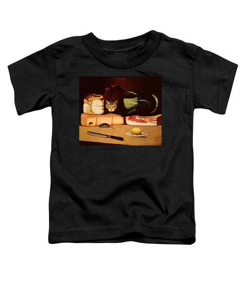 Still Life With Cat And Mouse Toddler T-Shirt by Anonymous
