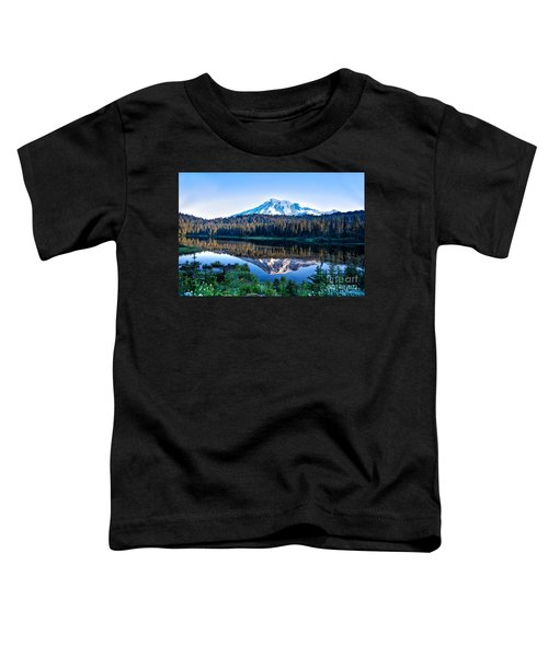 Sunrise At Reflection Lake Toddler T-Shirt