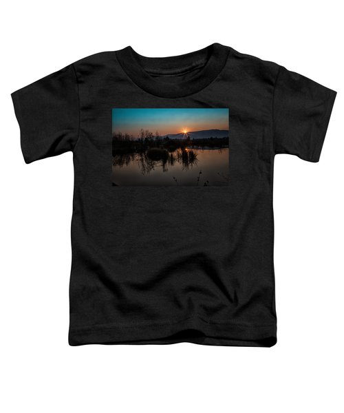 Sunrise Over The Beaver Pond Toddler T-Shirt
