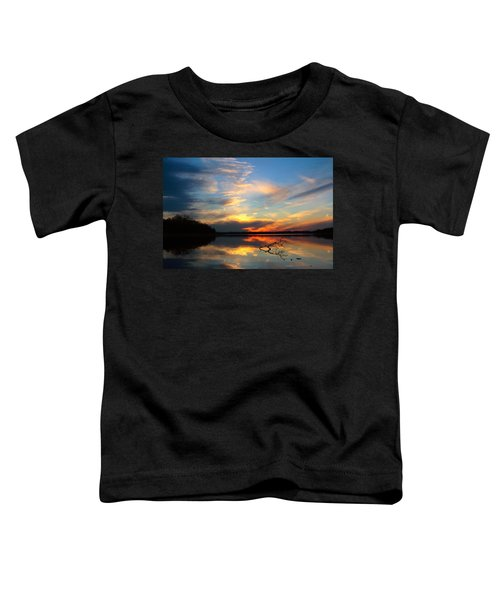 Sunset Over Calm Lake Toddler T-Shirt