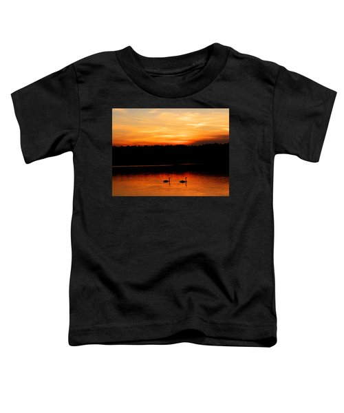 Swans In The Sunset Toddler T-Shirt