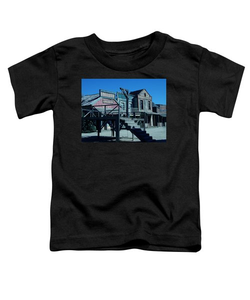 Toddler T-Shirt featuring the photograph Taverna Western Village In Spain by Colette V Hera  Guggenheim