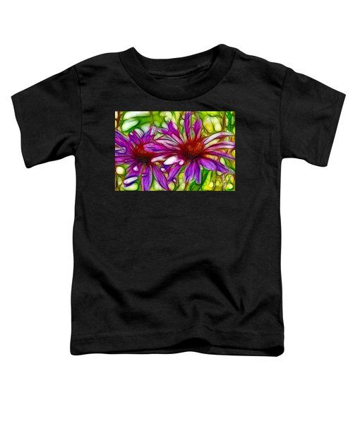 Two Purple Daisy's Fractal Toddler T-Shirt