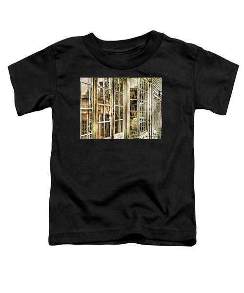 Toddler T-Shirt featuring the photograph Vc Window Reflection by Susan Kinney
