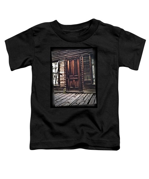 Toddler T-Shirt featuring the photograph Virginia City Ghost Town Door I by Susan Kinney