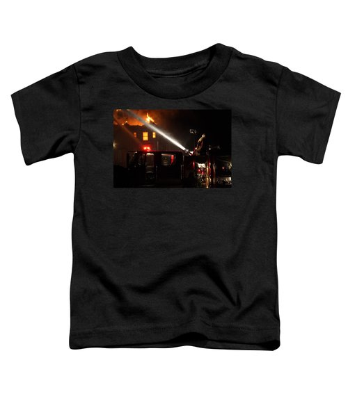 Water On The Fire From Pumper Truck Toddler T-Shirt
