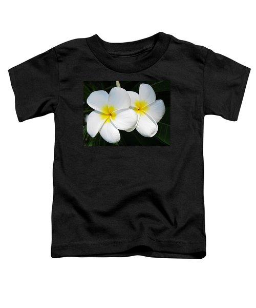 White Plumerias Toddler T-Shirt