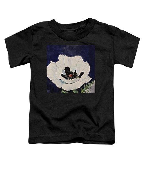 White Poppy-posthumously Presented Paintings Of Sachi Spohn  Toddler T-Shirt