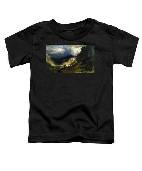 A Storm In The Rocky Mountains Mt. Rosalie Toddler T-Shirt
