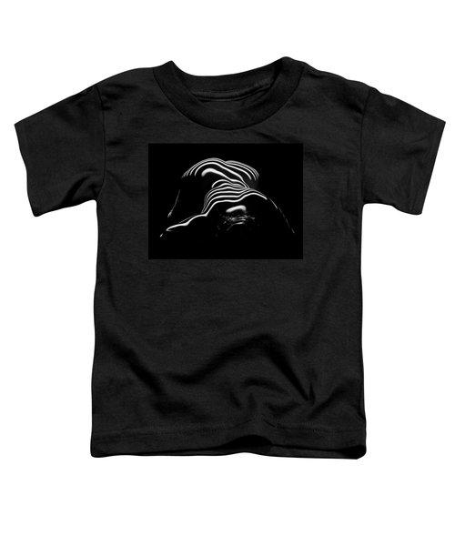 0686-ar Head Down Bottom Up Zebra Striped Female Figure Toddler T-Shirt
