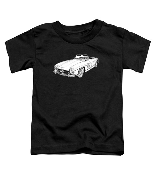 Mercedes Benz 300 Sl Convertible Illustration Toddler T-Shirt