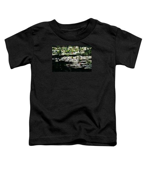 Toddler T-Shirt featuring the photograph At Claude Monet's Water Garden 7 by Dubi Roman