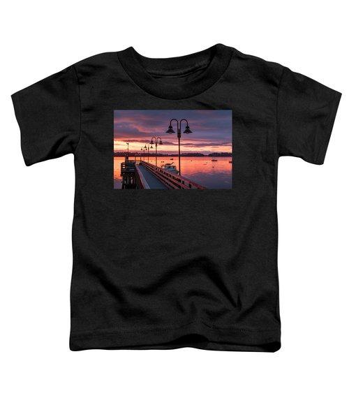 Falmouth Town Landing Sunrise Toddler T-Shirt